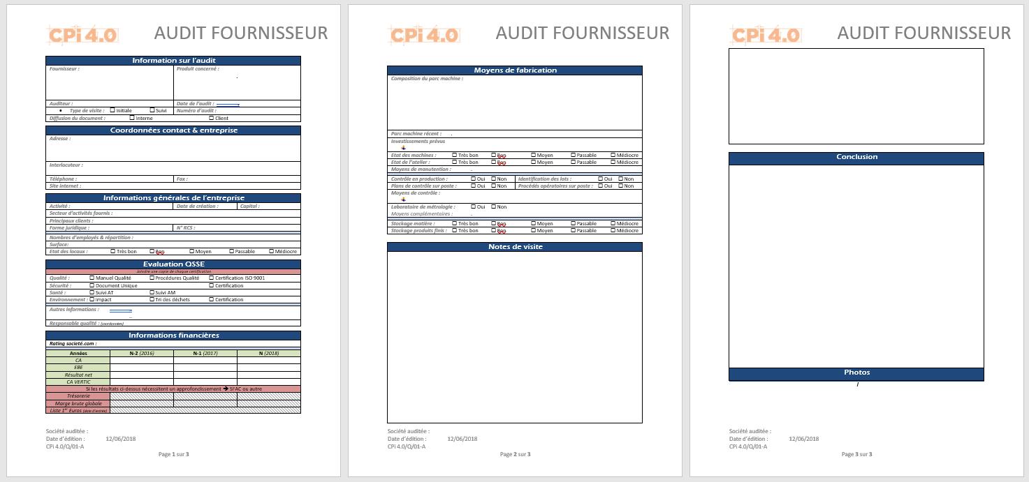Audit fournisseur par CPi 4.0